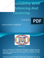 High Availability With Load Balancing and Clustering