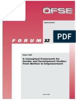 A Conceptual Framework for Gender & Development Studies