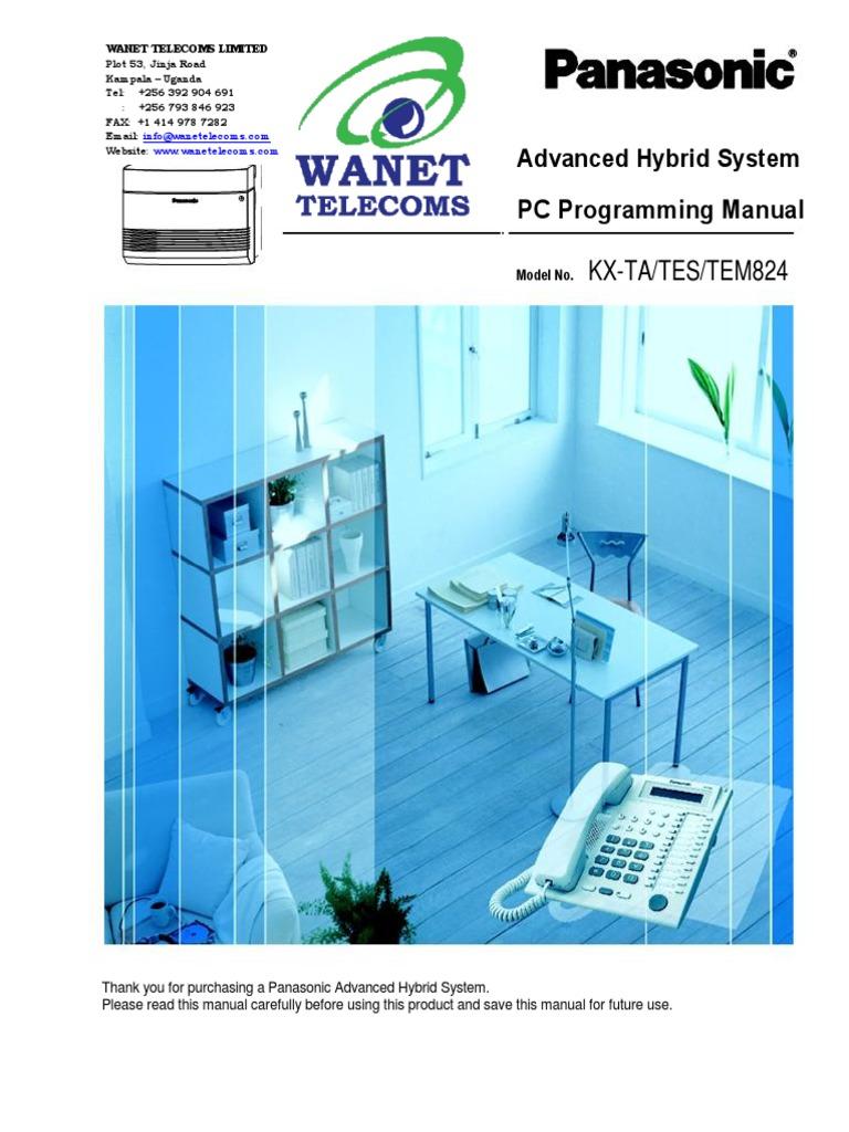 kx tes824 or kx ta824 pc programming manual up to page 47 out of 164 rh scribd com kx-tes824 pt programming manual pdf kx-tes824 pt programming manual pdf