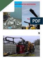 Hochdruck Beton Beseitigung aus Fahrmischer Betontrommeln der transportbeton Industrie