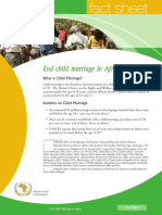 Fact Sheet on Ending Child Marriage