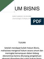 Hukum Bisnis Ekonomi Akuntansi