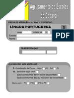 Língua Portuguesa 1º Ano - 2º Período