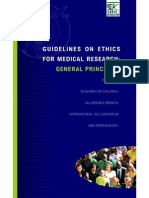 Guidelines on ethics for medical research