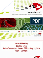 Satellite Event Nano Tera Annual Meeting 19mai14