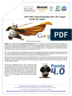 Re-Launch Your Growth With Expertsfromindia After The Google Panda 4.0 Update