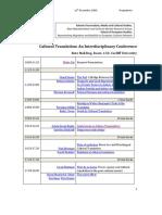 Cultural Translation Programme