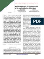Web User Behavior Analysis Using Improved Naïve Bayes Prediction Algorithm