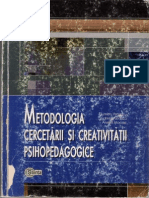 37249790 Metodologia Cercetarii Si Creativitatii Psi Hoped Agog Ice