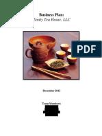 Zenity Tea HouseLLC Business Plan Redacted