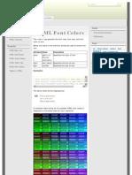 HTML Font Colors