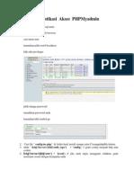 Membuat Autentikasi Akses PHPMyadmin