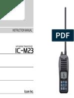 marine ic-m23 instruction manual