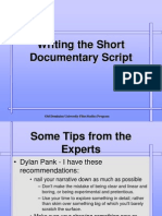 Writing the Short Documentary Script.ppt
