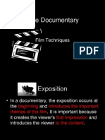 The Documentary Film Techniques