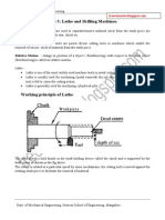 Lathe Drilling notes