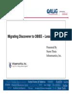 MigratingDiscoverertoOBIEE-LessonsLearned-OAUGCP2013