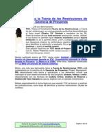 TOC en PM o La Teoría de Las Restricciones de Goldratt en La Gerencia de Proyectos