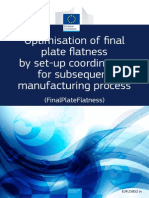 Optimisation of Final Plate Flatness by Set-up Coordination for Subsequent Manufacturing Process (FinalPlateFlatness)