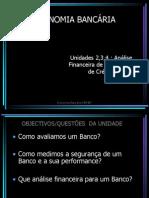 Economia Bancária Unidade 2