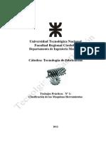 TPN 1 Clasificación de La Maquinas Herramientas