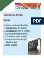 Clase 5 Tema v. Corrosión Atmosférica Prot