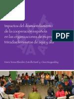 Impactos del desmantelamiento de la cooperación española en las organizaciones de mujeres