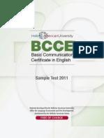 BCCE Sample Test January 2011