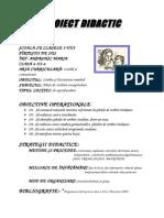 Proiect Didactic - Parti de Vorbire- Consolidare