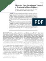 2008 - Effects of Opioid Receptor Gene Variation on Targeted Nalmefene Treatment in Heavy Drinkers