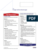 Difference Blood Sugar