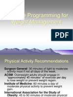 Exercise Programming for Weight Management