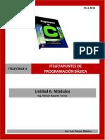 Apuntes u6 de PB 2014-1 (Modulos)