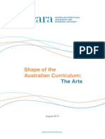 shape of the australian curriculum-the arts