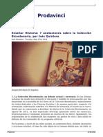 Ensenar Historia 7 Anotaciones Sobre La Coleccion Bicentenario Por Ines Quintero