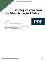 Gestão Estratégica Com Foco Na Administração Pública