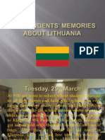 our students memories about lithuania