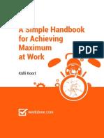 eBook - A Simple Handbook for Achieving Maximum at Work - Weekdone
