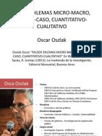 Presentación Falsos Dilemas Micro-macro, Teoría -Caso, Cuantitativo-cualitativo
