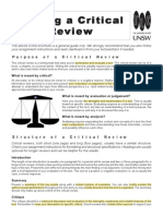 How to Write a Critical Review