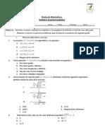 prueba N°2 tercero medio ecuacion cuadratica forma 2