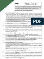 Certificação Interna de Conhecimentos Prova 02 Março 2009