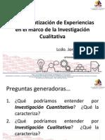 22.04.14 La Sistematización de Experiencias en El Marco de La Investigación Cualitativa