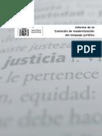 Recomendaciones de La Comisión de Modernización Del Lenguaje Jurídico
