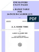 AA Range Tables for 16-Inch, 50-Cal Gun  (1944)