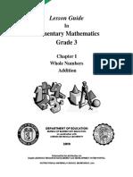 LESSON GUIDE - Gr. 3 Chapter I -Addition v1.0