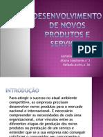 Slide Novos Produtos- Turma 2101
