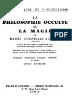 La Philosophie Occulte. Livre I