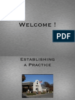Establishing a Practice