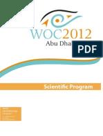 WOC2012 Scientific Program